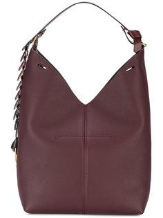 большая сумка-ведро на плечо с фигурным ремнем Anya Hindmarch