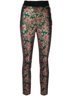 брюки с жаккардовым принтом в виде листьев Dolce & Gabbana
