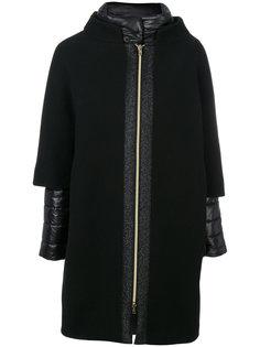 дутое двухслойное пальто  Herno
