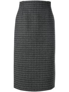 клетчатая юбка-карандаш Nº21