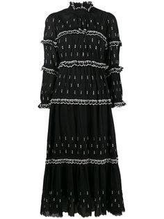 длинное платье с вышитыми стрелами Isabel Marant Étoile