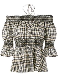 блузка с приспущенными плечами Charron Ganni