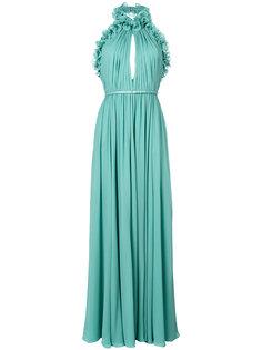 длинное платье с вырезом-халтер Elie Saab