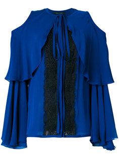 блузка с открытыми плечами и кружевом Elie Saab