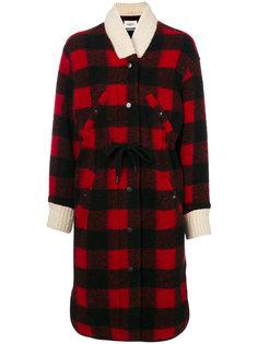 клетчатое пальто с завязками Isabel Marant Étoile