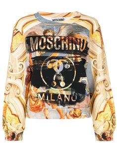 толстовка с рисунком Fresco Moschino