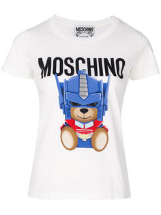 узкая футболка Transformer Bear Moschino