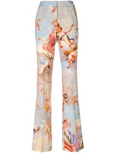 расклешенные брюки с рисунком Fresco Moschino