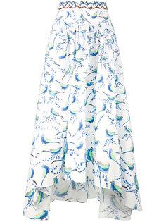 асимметричная юбка с рисунком из птиц Peter Pilotto