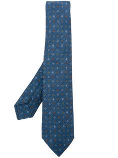 галстук с ромбовидным узором Kiton