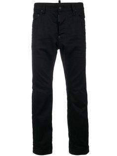 укороченные джинсы с молниями по бокам Dsquared2