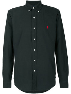 рубашка с красным вышитым логотипом Polo Ralph Lauren