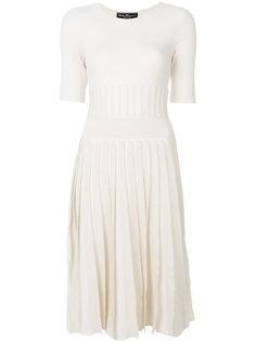 вязаное плиссированное платье Salvatore Ferragamo