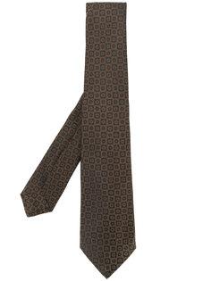 галстук с цветочной вышивкой Kiton