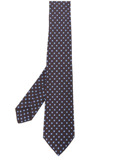 галстук с мелким геометрическим принтом Kiton