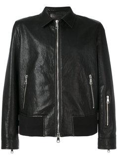 кожаная куртка с молниями Neil Barrett