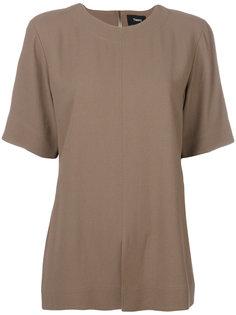 блузка с короткими рукавами с разрезом спереди Theory