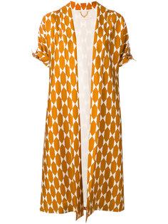 пальто-кимоно с геометрическим принтом  Tory Burch