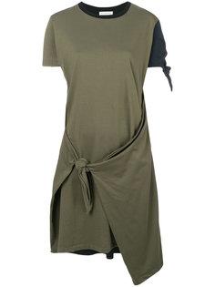 платье с контрастными вставками и узлом JW Anderson