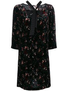 расклешенное платье с цветочным узором Antonio Marras