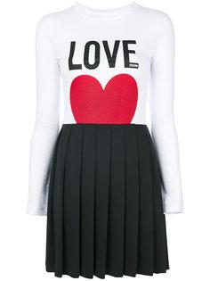 платье с принтом Love Love Moschino