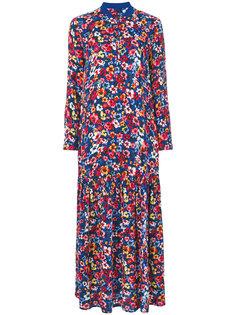 длинное платье с цветочным принтом Love Moschino