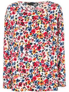 блузка с цветочным принтом Love Moschino