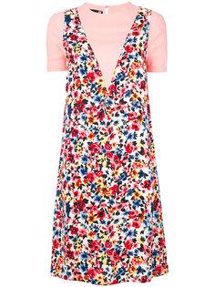 платье-футболка с цветочным принтом Love Moschino