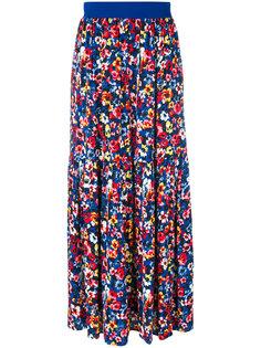 длинная юбка с цветочным рисунком Love Moschino