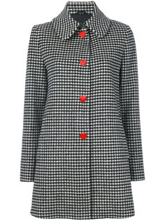 однобортное пальто Vichy Love Moschino