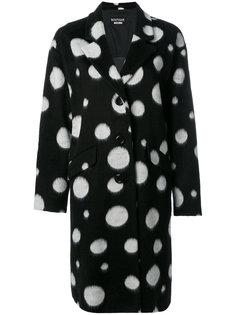 пальто в горох свободного кроя Boutique Moschino