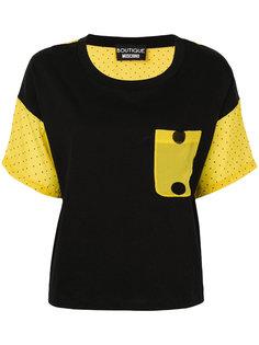 футболка с рукавами в горошек  Boutique Moschino