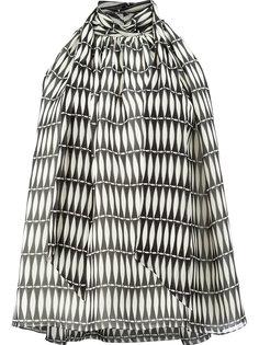 блузка с завязкой на бант и кафельным принтом Lanvin