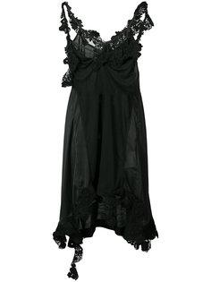 асимметричное платье на бретелях Sacai