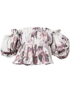 блузка с открытыми плечами и массивными рукавами Brock Collection
