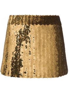 мини-юбка с пайетками Marc Jacobs