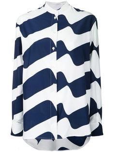 рубашка с волнистым принтом Victoria Beckham