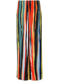 полосатые плиссированные брюки Solace London