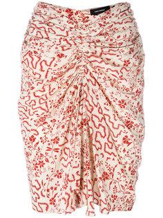 присборенная юбка с узором Isabel Marant