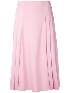 юбка миди со складками Victoria Beckham
