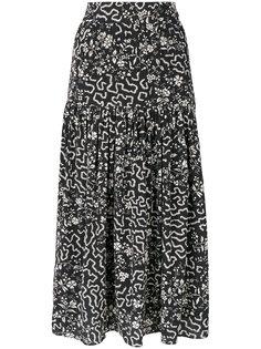 юбка с геометрическим и цветочным принтом Isabel Marant