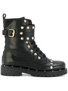 ботинки в стиле милитари с заклепками Twin-Set