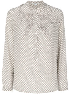 блузка с принтом и украшением из кристаллов Stella McCartney