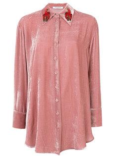 рубашка с украшением из бусин на воротнике Vivetta