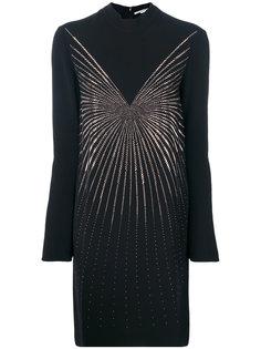 платье с воротником-стойкой и блестящим декором Stella McCartney