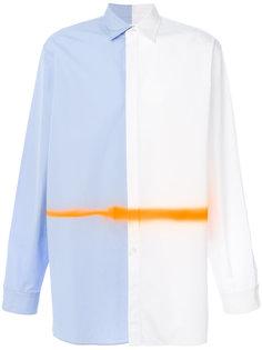 рубашка с контрастной полоской Maison Margiela