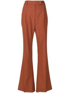 длинные брюки клеш  Prada