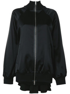 сатиновая куртка-бомбер со складками Maison Margiela