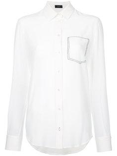 рубашка с с декоративной строчкой на кармане  Joseph
