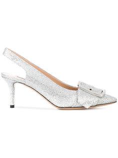 туфли-лодочки с открытой пяткой с блестками Alexa Casadei